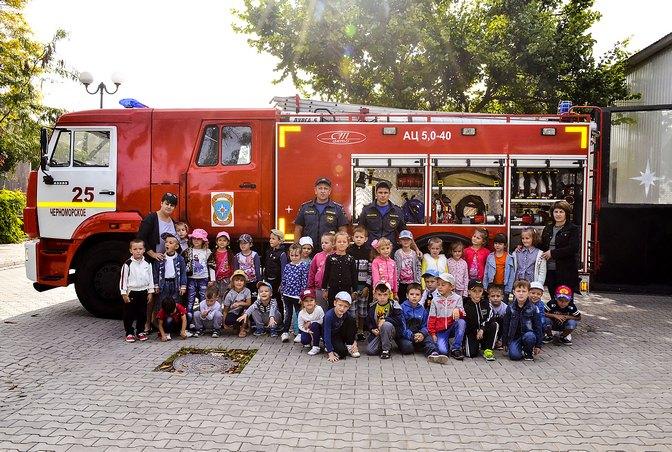 Дошкольники в гостях у пожарных